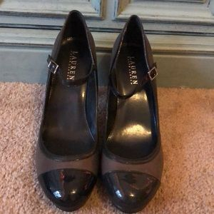NWOT Black and gray Ralph Lauren pumps